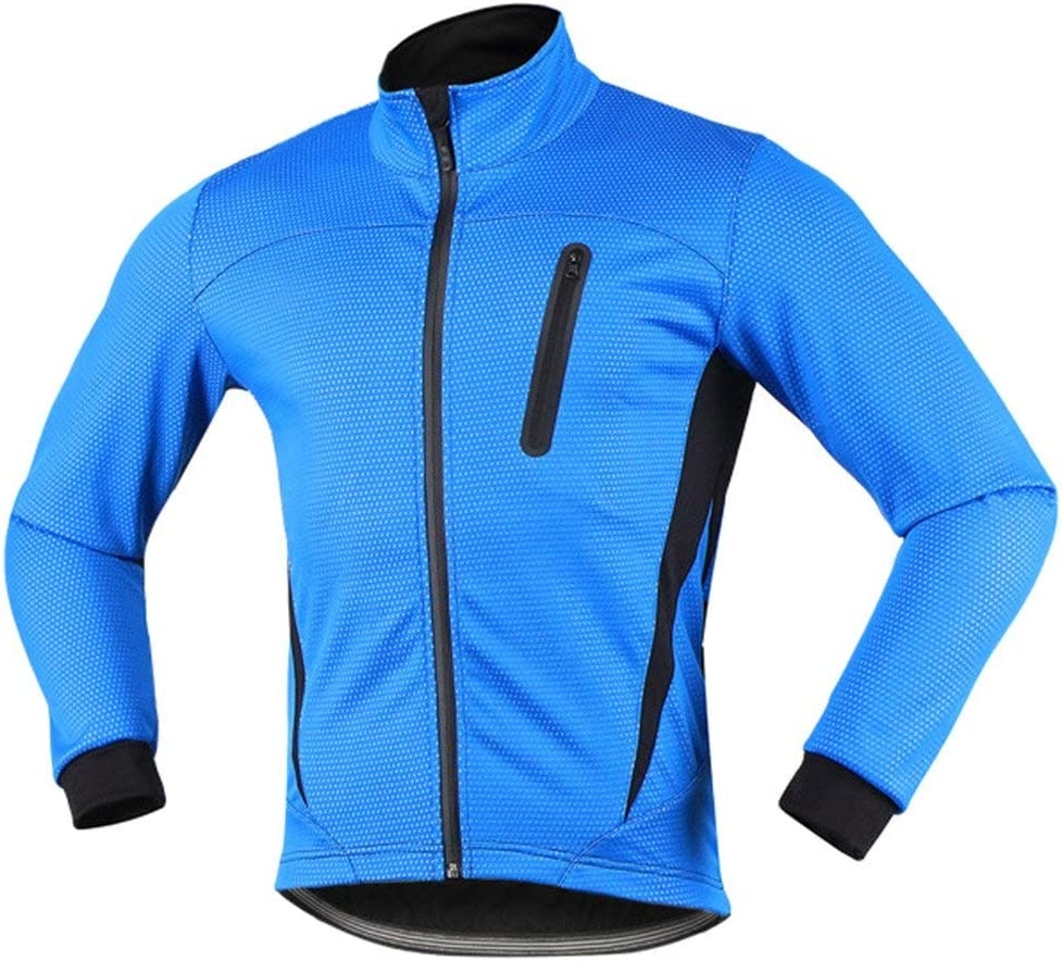 iCreat Mens Cycling Jacket Waterproof Windproof Breathable Lightweight High Visibility Warm Thermal Long Sleeve Jacket MTB Mountain Bike Jacket