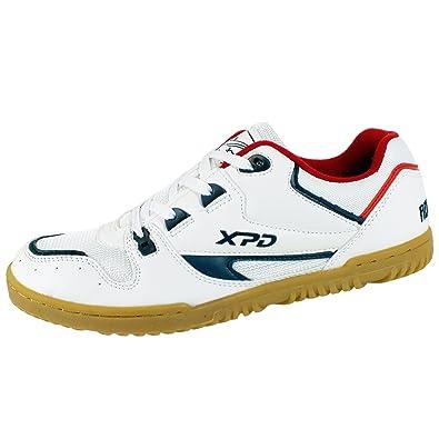 bd88c55a7 XPD Professional Sports Shoes - Zapatillas de Tenis de Mesa de Material  Sintético para Hombre Blanco Blanco  Amazon.es  Zapatos y complementos