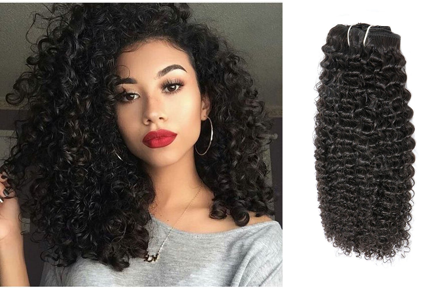 Ubetta 7 Pieces 120g Afro Curly Hair Clip Ins For African Hair Extensions American Women Natural Black Hair