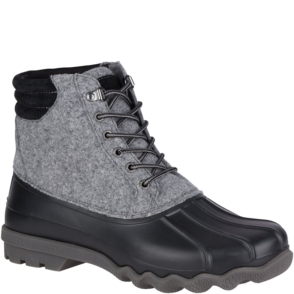 Sperry Top-Sider Men's Avenue Duck Rain Boot, Grey, 10.5 Medium US