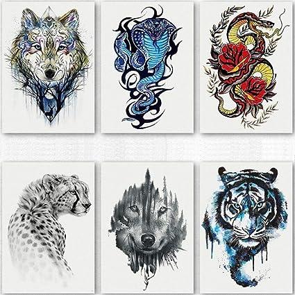 Tatuajes Temporales Etiqueta Engomada Del Tatuaje De La Cobra ...