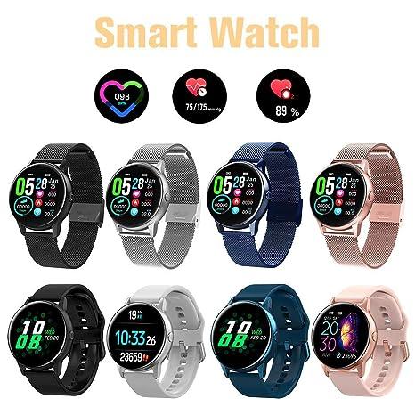 ahorrar 26b98 e4eb3 Bluetooth Reloj Inteligente Mujer Reloj Inteligente , Pantalla Táctil A  Prueba De Agua Frecuencia Cardíaca Monitorización De La Presión Arterial  Salud ...