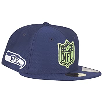 New Era Seattle Seahawks League Logo 59FIFTY Fitted NFL Cap  Amazon ... 0cc11baf8