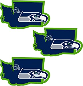 Siskiyou NFL Unisex Home State Decal, 3pk