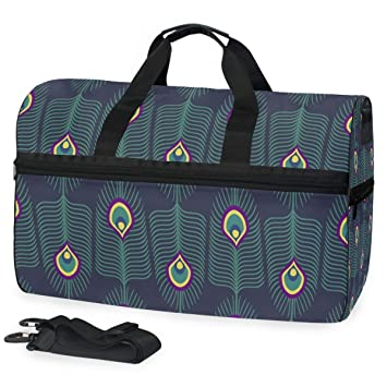 Amazon.com: Anmarco - Bolsa de viaje de plumas de pavo real ...