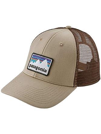 Patagonia Gorra Trucker Shop Sticker Patch LoPro Hats - Kaki - Ajustable: Amazon.es: Ropa y accesorios