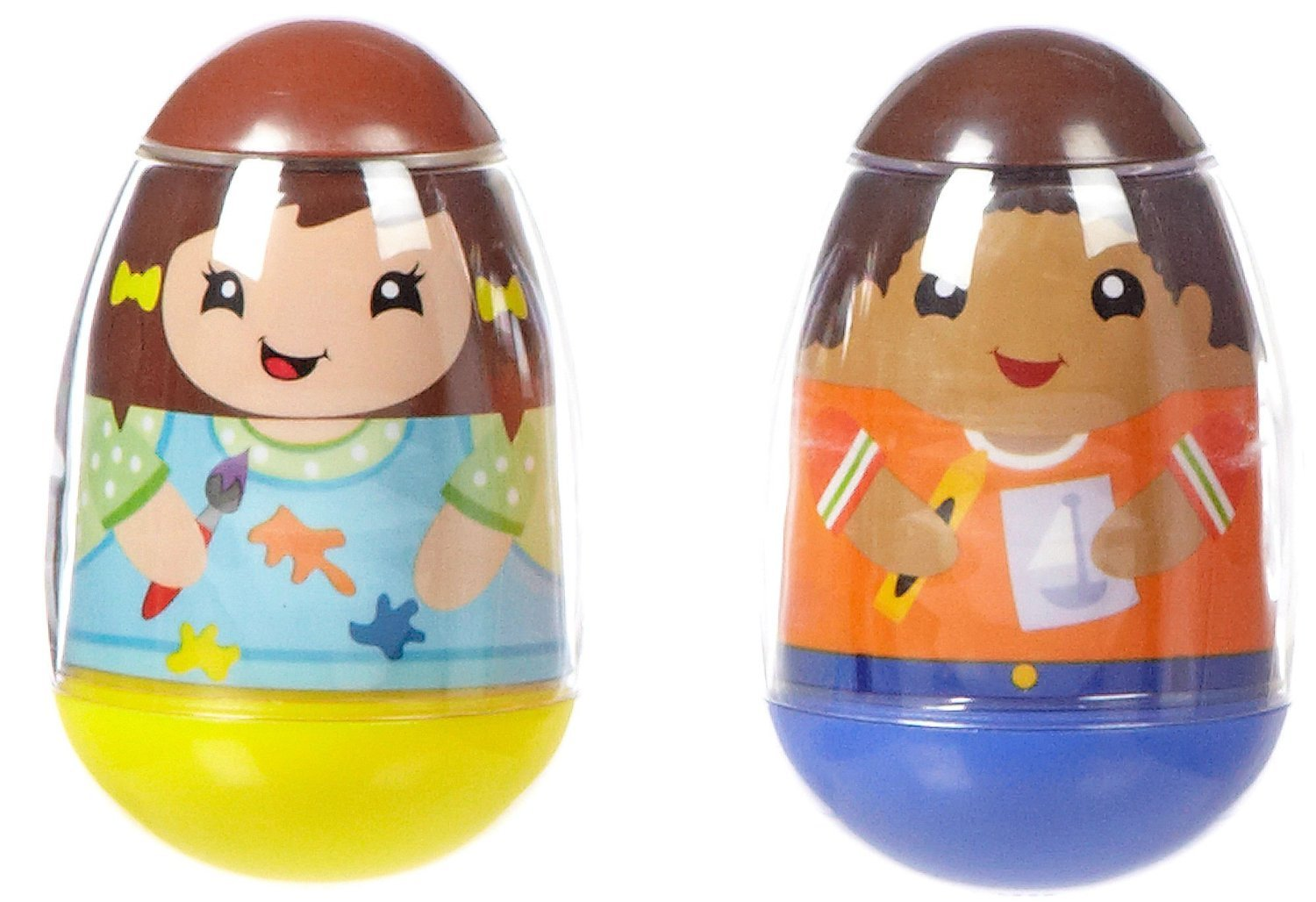 Playskool Weebles Musical Treehouse Part - 40: Amazon.com : Playskool Weebles Art 2 Pack - Boy U0026 Girl By Babyland : Baby  Building And Stacking Toys : Baby