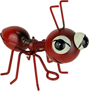 Napco Imports Red Metal Art Big Head Ant Table Sculpture or Wall Hanging