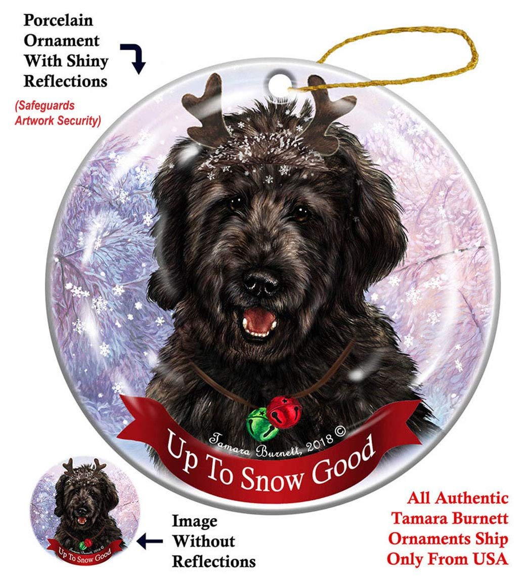 Holiday-Pet-Gifts-Goldendoodle-Black-Dog-Porcelain-Christmas-Ornament