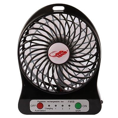 Rasse Portable Mini USB Fan 4-inch Desktop Fan with 2200MAH Rechargeable Battery