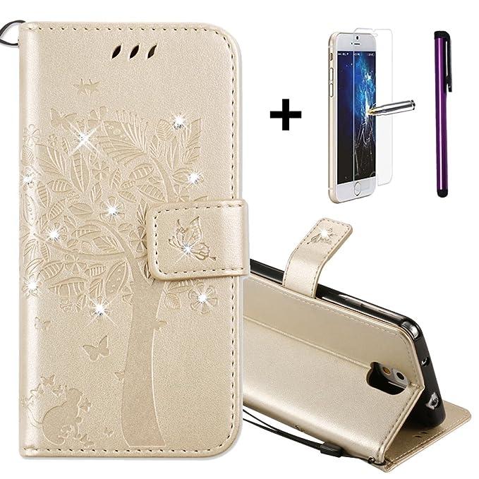 4 opinioni per Samsung Note 3 Custodia in Pelle, Samsung Galaxy Note 3 Protettiva Cover [Con