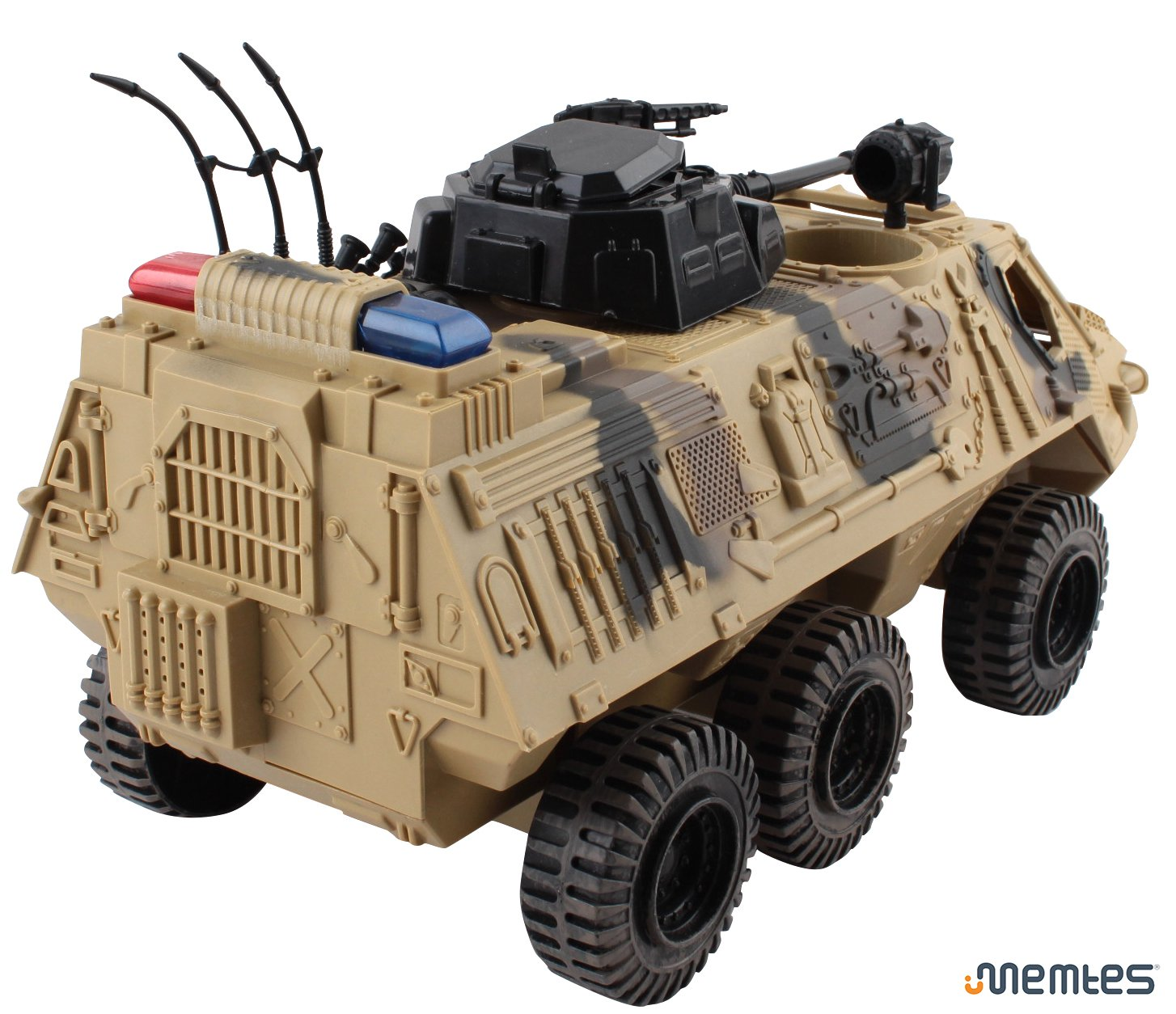 Memtes Military Fighter Army Truck Tank Toy with Mini Army Soldier with Lights and Sound by Memtes (Image #5)