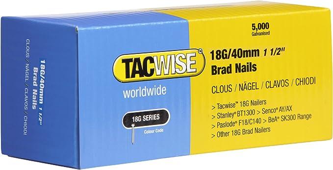 Set de 5000 Piezas Tacwise 0826 Clavos inclinados 500//35 mm 35 mm