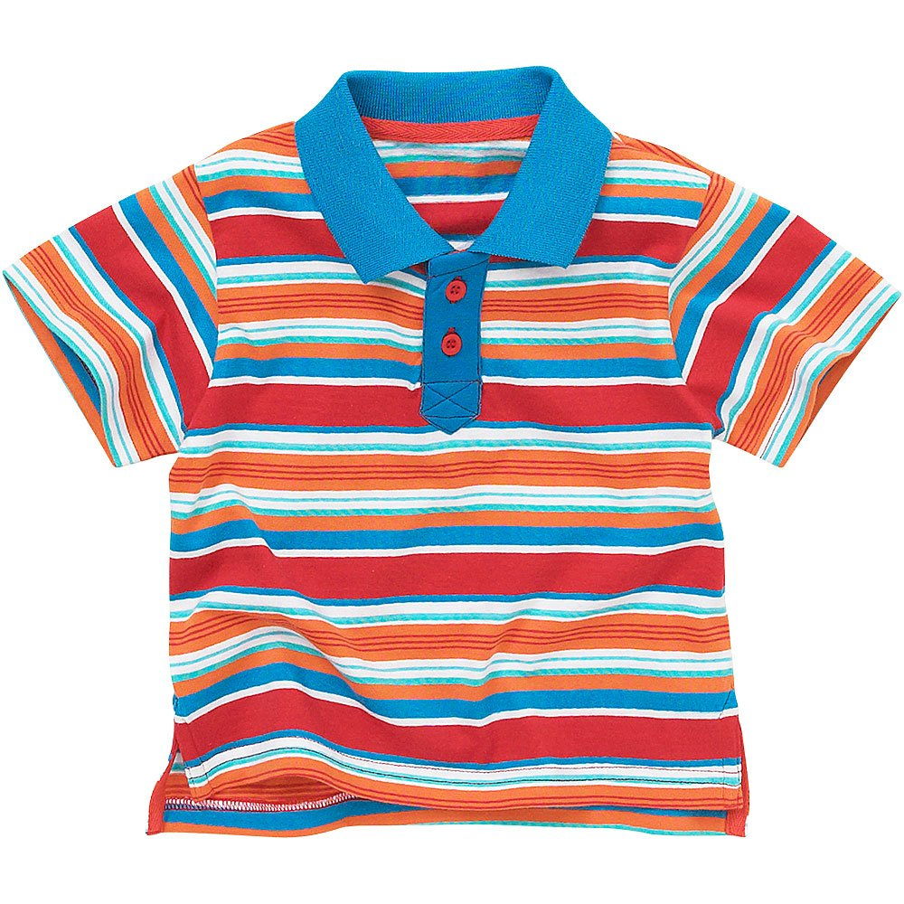 Surf Dude Boys Short Sleeved Striped Polo Shirt