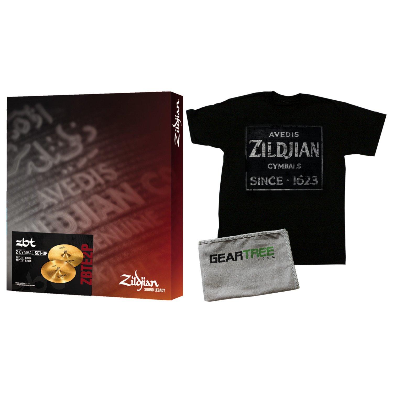 Zildjian ZBT 2 Pack Box Set (18in Crash and 18in China) w/Zildjian T4674 QUINCY by Avedis Zildjian Company