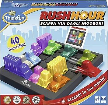 Thinkfun 76300 Rush Hour Gioco Di Logica Per 1 Giocatori Eta 8 Versione Italiana Amazon It Giochi E Giocattoli