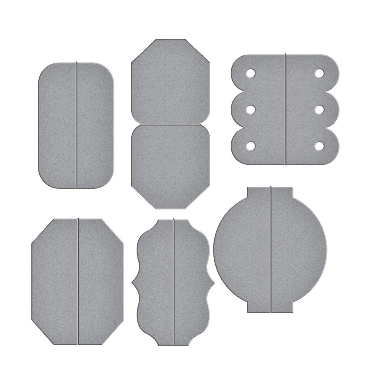 Marrone in Metallo Colore Spellbinders-Fustella a Forma di abilit/à Tab Set One-Fustella