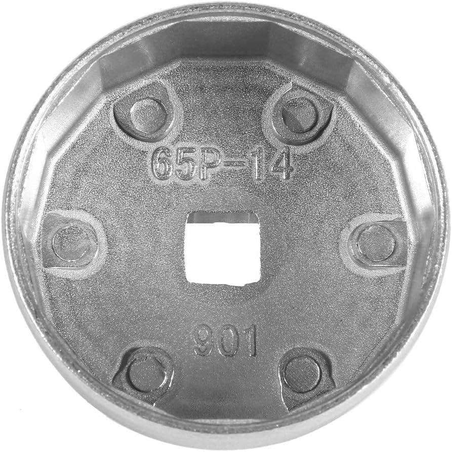 Rockyin 65 millimetri Filtro 14 Flutes Cap Oil chiave auto Socket Strumento di rimozione for Toyota Honda A8