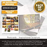 Juvale 40-Pack Christian Motivational and