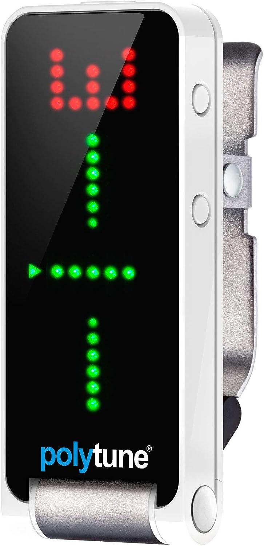 TC Electronic POLYTUNECLIP - accesorios para guitarra (Tuner, Negro, Acero inoxidable, Color blanco)