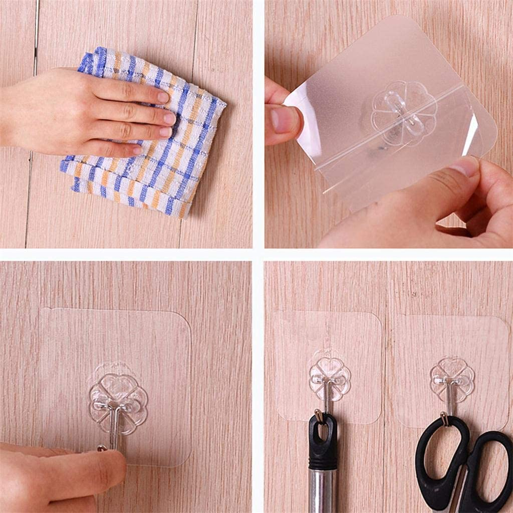 Yliquor Strong Transparent Suction Cup Sucker Wall Hooks Hanger Self Adhesive Hooks Office Hooks Hanging Keys for Kitchen Bathroom 13pc