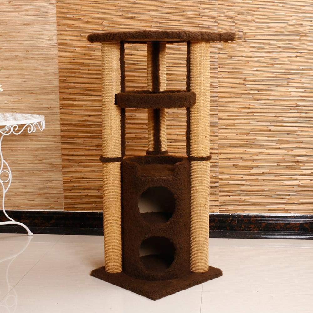 Deluxe Multi Cat Tower Creative Play Towers Trees for Cats Large Platform Grab Column Plush Tease cat Toys Grab Board 40  40  104cm