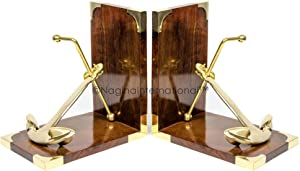 Nautical Ship's Solid Brass Anchor Styled Bookend | Book Holders | Nautical Gifts | Home Decor | Sailor's Inspired Maritime Collectible | Nagina International