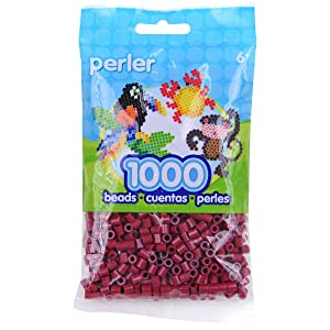 Perler Beads Fuse Beads for Crafts, 1000pcs, Cranapple Red