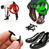 Silkies No tie shoelaces for dress shoes silicone elastic shoe strings oxford shoe laces