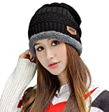 HINDAWI Winter Beanie Hat Knitted Skull Warm Snow Outdoor Slouchy Beanies Cap for Women Men