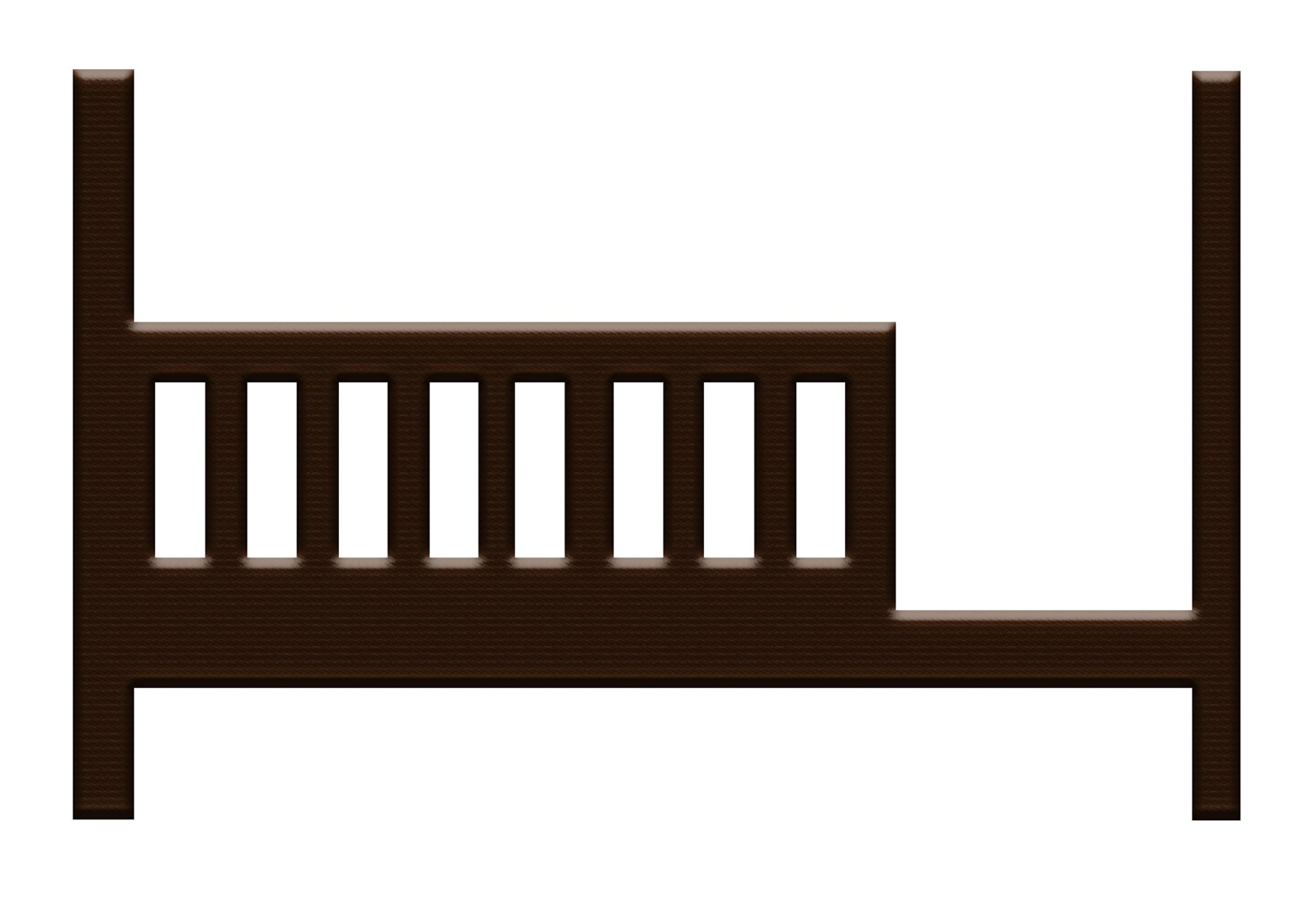 Young America Built to Grow Toddler Bed Kit Safety Rail w/ Daybed Conversion Kit - Espresso