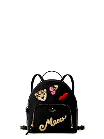 88fabad961 Kate Spade Women s Black Run Wild Leopard Tomi Small Backpack
