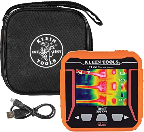 Klein Tools TI250 Rechargeable Thermal Imager, Over 10,000 Pixels with Three Color Pallettes and High and Low Temperature Points