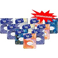Tempo Feuchte Toilettentücher sanft & sensitiv, parfümfreie Feuchttücher im wiederverschließbaren Komfortbeutel mit natürlicher Aloe Vera, 10 x 40 Tücher (400 Tücher)