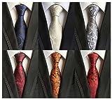 WeiShang Lot 6 PCS Classic Men's 100% Silk Tie