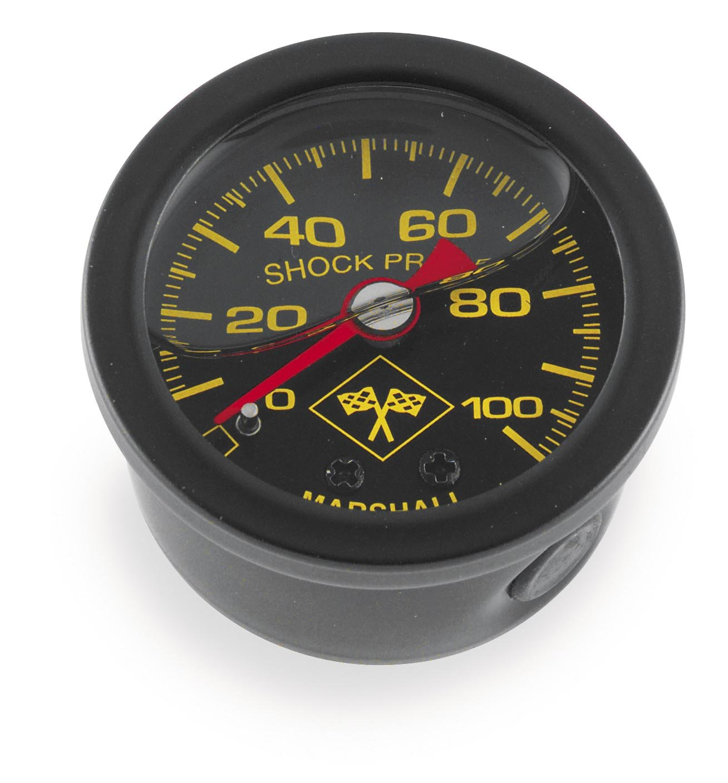 Bikers Choice Oil Pressure Gauge 0-100 PSI Black SS for Harley