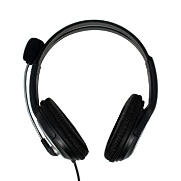 3.5mm Stereo Gaming Headset Headphone Boom Mic In-Line Volume Control For Skype
