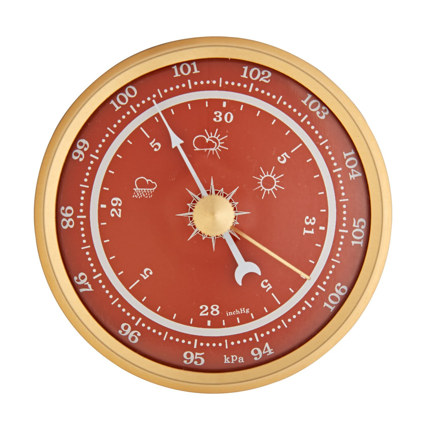 2-3/4'' Orange Barometer Insert