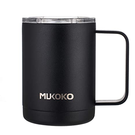 Amazoncom 16oz Stainless Steel Insulated Coffee Mug With Lid And