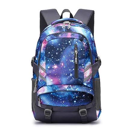 outlet 5edff fb393 Zaino Scuola Superiore per PC 15.6 Pollici da ragazzo e ragazza, Backpack  Portabile Casual Rucksack per Laptop Universita Viaggio con Presa Ricarica  ...