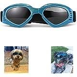 XUNKE Gafas de Sol para Perros, Perro Gafas para Perros pequeños y medianos Impermeable Plegable Protector Ocular…