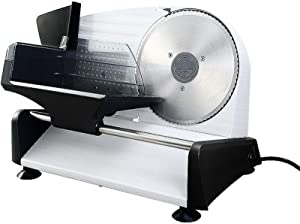 XIONGGG Meat Slicer Electric Deli Food Slicer for Home, Removable Food Slicer with 20Cm Newest Serrated Blade