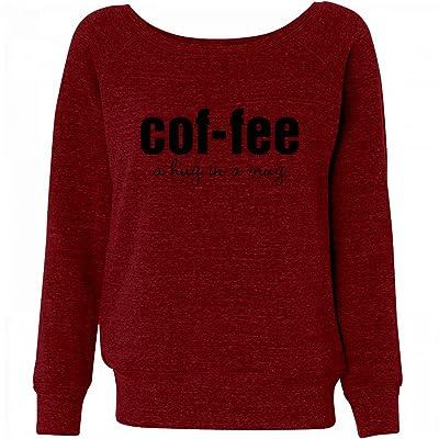 Customized Girl Coffee Defined: Ladies Triblend Wideneck Sweatshirt