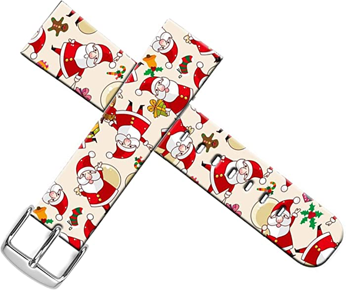 Strap Compatible for Apple Watch Series SE/6/5/4/3/2/1 38mm/40mm Sport - ENDIY Designer Leather Fashionable Band Replacement for Iwatch Xmas Christmas Theme Design Pattern Cute Christmas Father