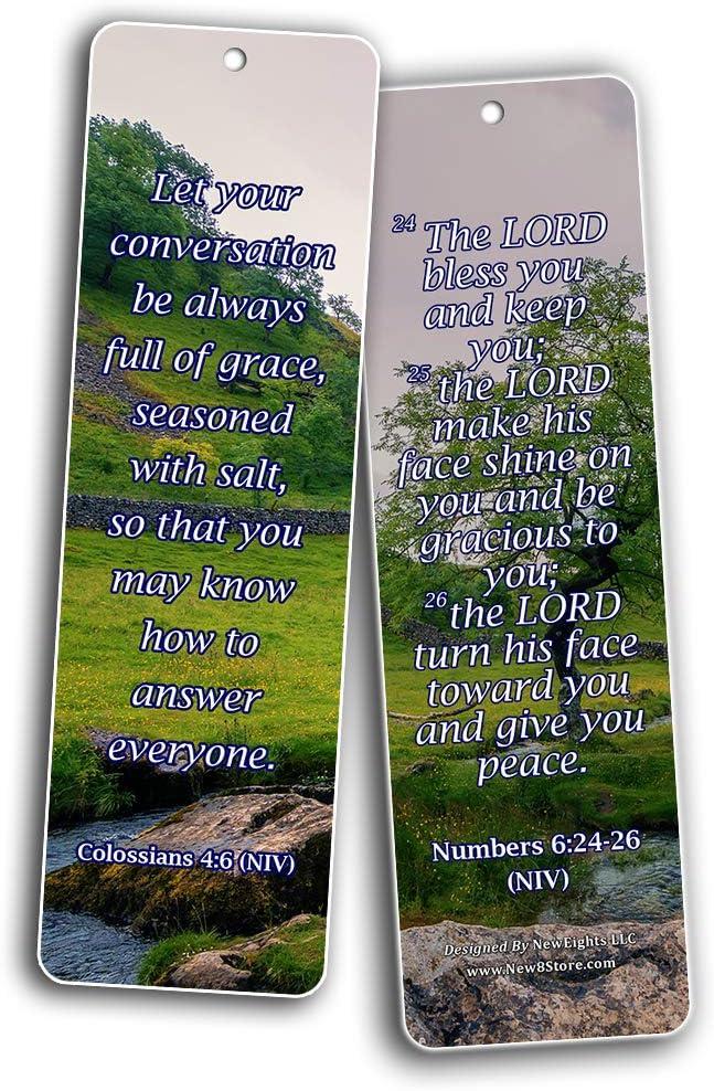 60 St/ück 60-pack 7 X 2.2 in Grace Bible Verses Leistungsstarke Bibelvers-Karten