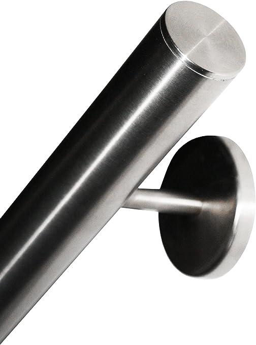 avec des supports soud/és jusqua 6 metre diametre 42,4mm Main Courante en acier inoxydable V2A poli AISI 304 embout dro/îte