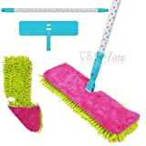 Double Sided Microfibre Flip Mop Cleaner Sweeper Wooden Laminate Tile Floor Wet Dry