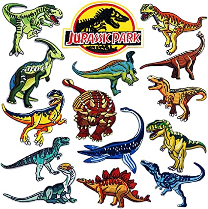 Dinosaur Iron on Applique Patch DIFFERENT STYLES