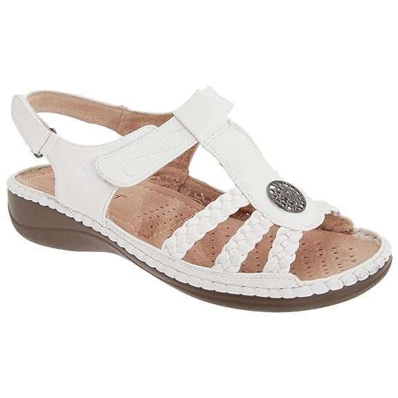 Boulevard Damen Sandale mit Klettverschluss