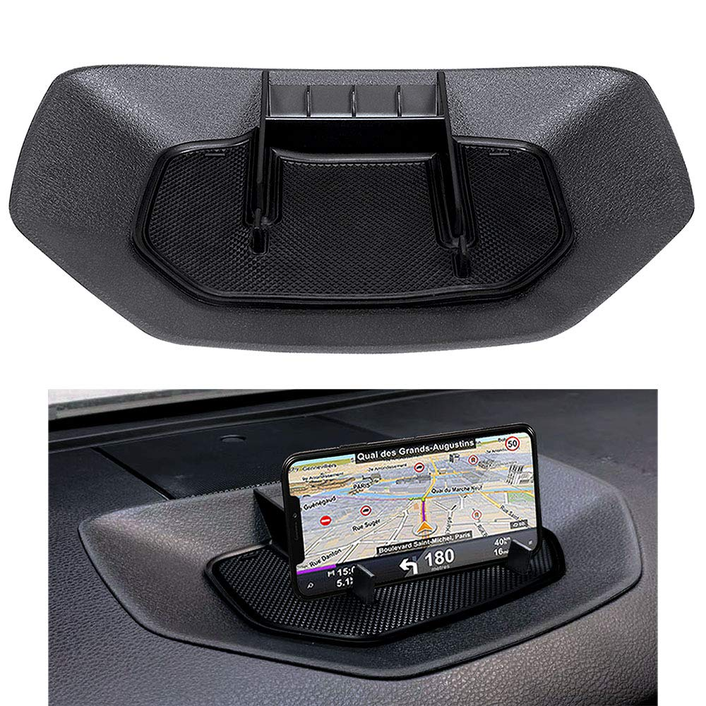 ZOIBV Car Dash Center Console Table Storage Tray,Dashboard Instrument Organizer Multi-Function Phone Holder Cradle for Toyota Tundra 2014-2019 Accessories,ABS Silicone Anti-Slip Backing by ZOIBV